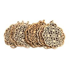 10 Laser Cut Wood Shapes Wood Charms DIY Woodcrafts Scrapbooking