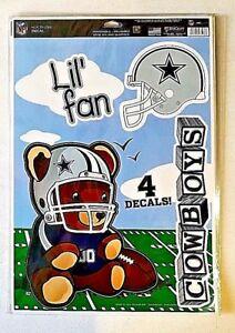"Dallas Cowboys NFL Lil' Fan Football Reusable Multi Use Decals 11""X17"""