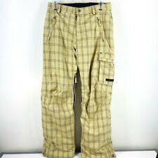 Body Glove Mens Sz L Snowboard Ski Pants Winter Brown Checkered Tan Khaki     U8