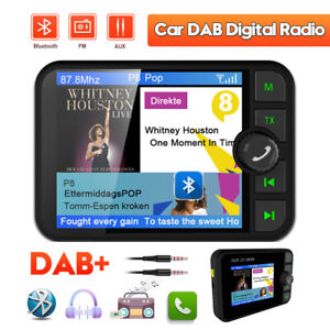"2.4"" Car Auto EmpfäNger DAB Autoradio Adapter Bluetooth Wireless FM Transmitter"