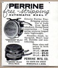 1954 Print Ad Perrine Automatic Fly Fishing Reels Edgemount,Standard,Minneapolis
