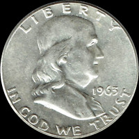 "A 1963-D Franklin Half Dollar 90% SILVER US Mint ""Average Circulation"""