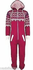 KIDS BOYS GIRLS AZTEC PLAIN HOODED ONESIE1 ALL IN ONE JUMPSUIT SIZES 2-16 YEARS