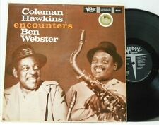 Coleman Hawkins Ben Webster LP Encounters on Verve stereo