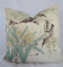 Watercolour Spring Daffodils Simulated Silk Cushion Cover 45cm