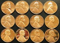1968~1979 S Lincoln Penny Proof Run 12 Coin Set US Mint Lot