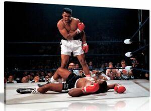 Muhammad Ali Boxing Sonny Liston Canvas Wall Art Picture Print