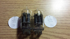 1 matched, balanced pair RCA clear-top 12AU7 -- test new  #21