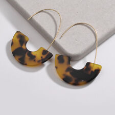 2018 Fashion Leopard Tortoise Shell Big Hook Acrylic Drop Earring For Women