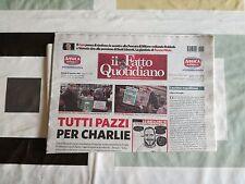 """Charlie Hebdo Allegato con """"Il Fatto Quotidiano"""" 15/01/2015"""