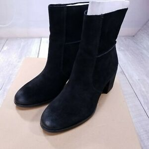 Frye Company Phoebe Slouch Mid Boots Womens 8.5 M Black Suede Slip On 70689