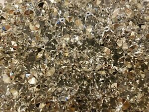 100 Pcs Silver 25mm Large Starflake Sunburst Plastic Acrylic Craft Beads
