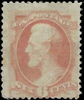 VEGAS - 1873 Sc# 159 Lincoln 6c - MH, OG - Tiny Tear Lower Left - EG65