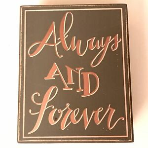 Always and Forever Wood Box Art - US SELLER
