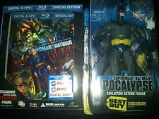 "Superman/Batman: Apocalypse (Blu-ray Disc)wSuperman figurine & Batman 8"" figure"