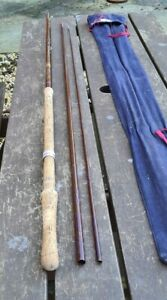 VINTAGE BRUCE AND WALKER SALMON FLY ROD 12FT IN CORRECT MAKERS BAG