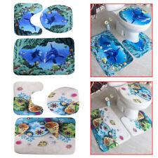 Badteppich 3 Teilig Set Badematte Badvorleger Badgarnitur Duschvorleger WC ly