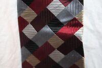 Van Heusen Dress Neck tie 100% Silk mens Red Blue Gray Gold Black Maroon Silver