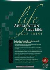 NLT Life Application Study Bible (Black Bonded Leather, Large Print, Indexed)