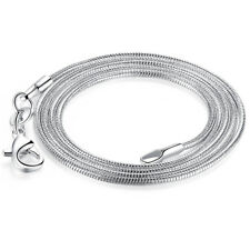 "1mm Silver Sterling 925 Snake Chain Necklace Length 16""/18""/20""/22""/24"" Jewelry"