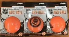 Franklin Sports NHL Street Hockey AGS Pro High Density Orange Ball 3-packs