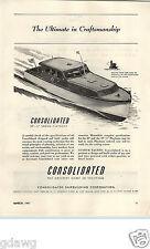 1947 PAPER AD Consolidated 40' Sedan Playboat Motor Boat Motorboat