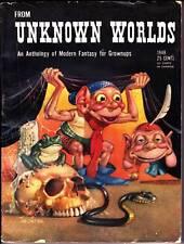 1948 Pulp FROM UNKNOWN WORLDS - Henry Kuttner, Anthony Boucher, Robert Bloch