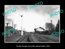 OLD 6 X 4 HISTORIC PHOTO OF LOVEJOY GEORGIA THE RAILROAD STATION c1940