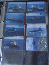 BRAZIL'S NAVY 1995 Complete Set 8 Different Phone Cards from Brazil