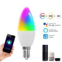 Smart WiFi E14 RGBW LED Glühbirne Birne Lampe Licht Für Amazon Alexa Google App