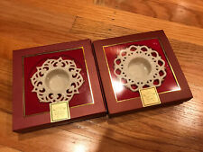 Lenox Votive Candle Holders For The Holidays Set Of 2 New