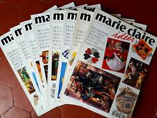 LOT 8 REVUES MARIE CLAIRE IDÉES complet 1995 à 1997 N°19 au N°26 + RELIURE KDO