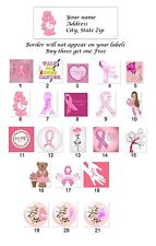 30 Personalized Address Labels Breast Cancer Think Pink Buy 3 get 1 free(bt3)