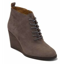 NIB Lucky Brand Yoanna Lace Up Wedge Bootie Storm Ankle Boots Womens 9.5M