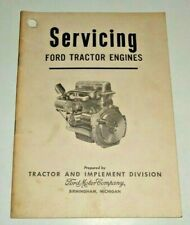 Servicing Ford Tractor Engines Training Manual Handbook Book Dealers Original!