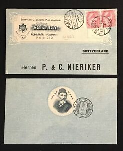EGYPT 1912- COVER -( SIMON ARZT) -FRONT SEPERATED !! -TO SWITZERLAND - FINE