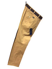Bruhl Soft Peachcloth Cotton MONTANA Trousers/Dark Beige - 42/34