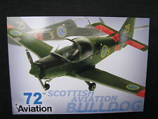 Post Card Aviation 72 Scottish Aviation Bulldog, Swedish Air Force B1025