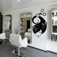 Wall Decal Mirror Hair Salon Beauty Hairdryer Scissors Laying Haircut M1166