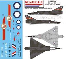 RAAF Mirage IIIo Mini-Set Decals 1/32 Scale N32053d
