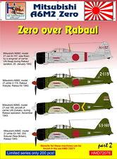 H-Model Decals 1/72 Mitsubishi A6M2 'Zero' over Rabaul, Part 2 # 72078
