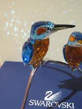 SWAROVSKI  CRYSTAL LIMITED EDITION KINGFISHERS BLUE TURQUOISE BIRDS [NEW]