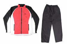PALM GROVE WATERPROOF GENTS RAINSUIT Colour BLACK/RED/WHITE  Size  LARGE NEW