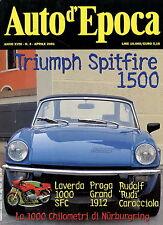 Auto d'Epoca 2001 4/01 Laverda 1000 SFC Praga Grand Triumph Spitfire 1500 Jaguar