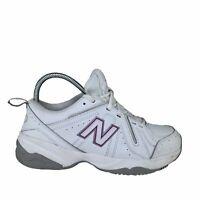 New Balance Womens Sz 7 White Leather Cross Training Walking Shoes 619 v1