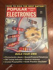 Vintage Popular Electronics Magazine December 1962 Ads Build Your Own Alarm