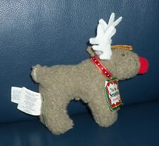 Tis The Season Reindeer Ornament With Tag Vintage North American Bear 1993