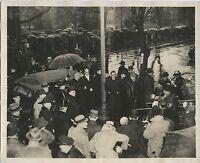 3/4/33 President Franklin D. Roosevelt rainy inauguration Ceremony Press Photo