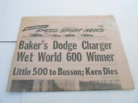 MAY 29 1968 NATIONAL SPEED & SPORTS NEWS car racing newspaper - BAKERS WORLD 600
