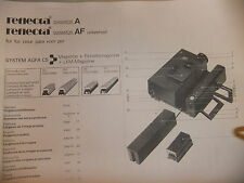 Instructions slide projector REFLECTA DIAMATOR A & AF -  CD/EMail